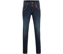 Jeans, Regular Fit, Used-Look, Superstretch