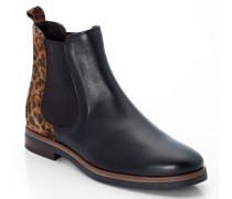 Chelsea Boots mit Leo-Print, /mehrfarbig