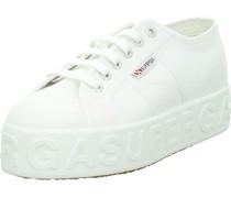 Sneaker, Plateausohlenarkenschriftzug,