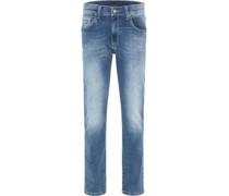 Jeans, 5-Pocket-Stil, Washed-Out-Effekte, Baumwollmix, Stretchkomfort,