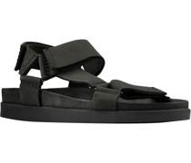 Sandale, klassisch, Klettverschluss, uni,