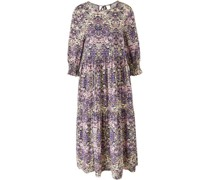 Kleid, floraler Allover-Print, 3/4 Arm,