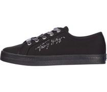Canvas-Sneaker, Baumwolleogo-Stickerei,