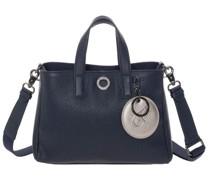 Handtasche, genarbtes Leder, geteiltes Hauptfach, abnehmbarer Schultergurt,