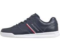 Sneaker, Farbbranding, Plateausohle, flach,