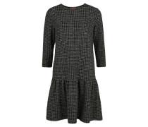 Kleid, 3/4-Arm, Strick, Hahnentritt, Casual,