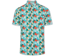 Coours & Sons Freizeithemd im Hawaii-Design 1/2 Arm Modern Fit