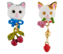"Ohrstecker ""Little Cats"", AHLA101T/1, mehrfarbig"