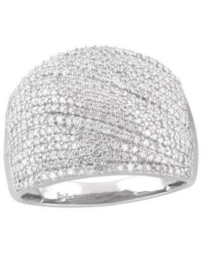 Ring Weißgold 375 mit Diamanten, zus. ca. 1,00 ct
