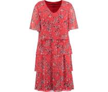 Kleid, Blumenmusteragen-Look,