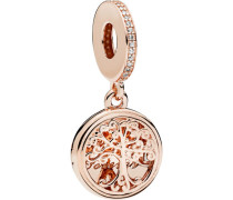 "Charm ""Family Roots"" mit Zirkonia, rose 781988CZ"