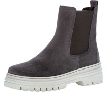 Chelsea-Boots, Rauleder, Blockabsatz,