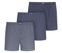 Boxershorts, 3er-Pack, Design-Mix, Baumwolle,