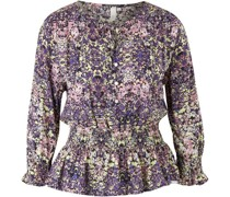 Bluse, 3/4 Arm, floral,