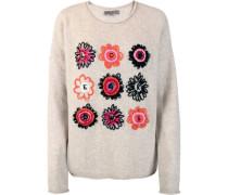 """Pullover """"HavinL"""", Wolle, Blumenmotiv, Rundhalsausschnitt,"""