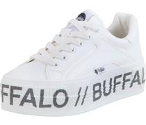 Plateau-Sneaker, Kunstlederogo-Design,