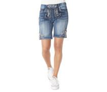 "Jeans-Shorts ""Franziska"", Trachten-Stil, Stickerei"