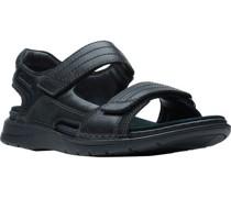 Sandale, sportlich, uni, Klettverschlussarkenschriftzug,