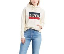 Sweatshirt, Kapuze, Baumwollearken-Print,