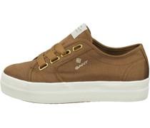 Plateau-Sneaker, tonigogo-Stickerei,
