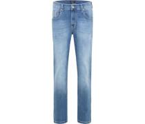 "Jeans ""Rando"", 1/1-Länge, Regular Fit, 5-Pocket, Used-Waschung,"