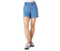 Shorts Jeans-Optik Paperbag-Stil Ärmelumschlag