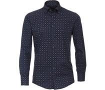 Businesshemd, Printodern Fit, Button-Down-Kragen,
