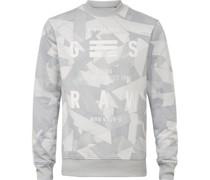Sweatshirt, Allover-Print, Rundhals, Rippbund, Print,