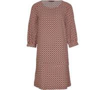 Kleid, 3/4-Arm, gemustert, Rundhalsausschnitt,