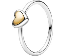 "Ring ""199396C00"", 925er /585er Gelbgold"