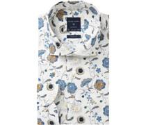 Businesshemd, Popeline, Haifisch, Slim Fit, floral, bügelfrei,