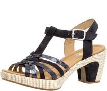 Sandalenaterialmix Leder, Schnalle,