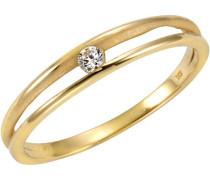 Ring 375/- Gelb Zirkonia