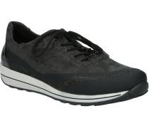 Sneaker, Glitzer, Streifensohle, Schnürung,
