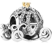 """Charm Cinderellas Kutsche """"791573CZ"""", 925er Sterling mit Zirkonia und 14K Gold"""