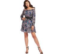 Kleid, kurzangarm, Volantsuster-Mix,