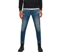 Jeans, slim Fit, Five-Pocket-Stil, Used-Optik,