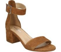 Sandaletten, Blockabsatz, Riemcheneder,