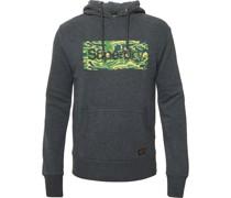 Sweatshirt, Kapuze, Tunnelzug, Applikation,