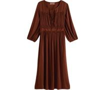 Midi-Kleid, Raffungen, Bündchen,