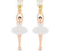 Ohrhänger, e Ballerina, Perlen und Feder Tutu