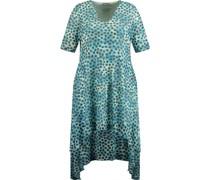 Kleid, Bogenkante, Pailletten, Allover-Muster,