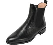 Chelsea Boots, Strukturleder, Blockabsatz,
