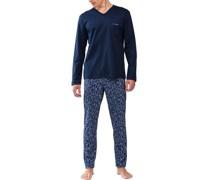 Schlafanzug, Brusttasche, Paisley,