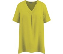 Leinen-Bluse, V-Ausschnitt,