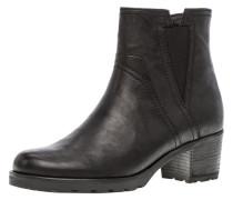 Chelsea Boots, Rauleder, Blockabsatz,