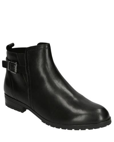 Boots, Glattleder, Riemen-Detail, Reißverschluss
