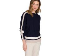 """Pullover """"Chloe"""", Zierknöpfe, breite Streifen,"""