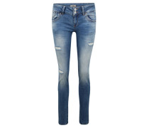 "Jeans ""Molly"", Destroyed-Look, Doppelknopf,"