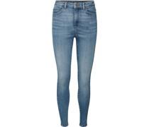 Jeans, hoher Bund, Skinny Fit, Patch, Damen